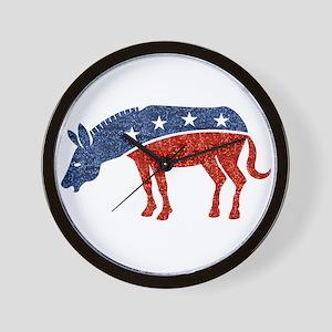 glitter democrat donkey Wall Clock