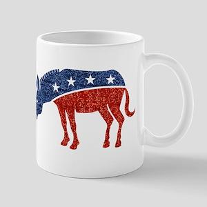 glitter democrat donkey Mugs