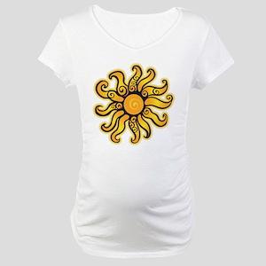 Swirly Sun Maternity T-Shirt