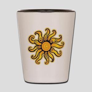 Swirly Sun Shot Glass