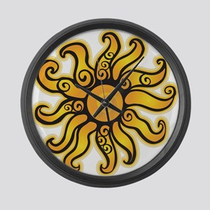 Swirly Sun Large Wall Clock