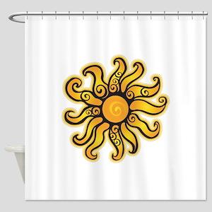 Swirly Sun Shower Curtain