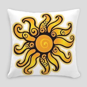Swirly Sun Everyday Pillow