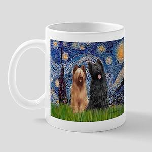 Starry - 2 Briards Mug