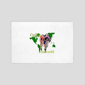 Cycling the World 4' x 6' Rug