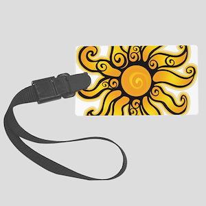 Swirly Sun Large Luggage Tag