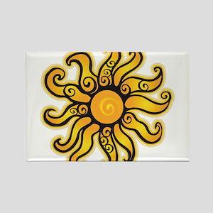 Swirly Sun Magnets
