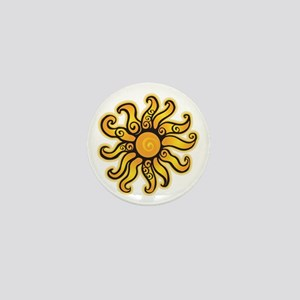 Swirly Sun Mini Button