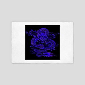 Epic Dragon Blue 4' x 6' Rug