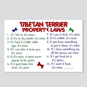 Tibetan Terrier Property Laws 2 Postcards (Package