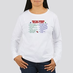 Tibetan Terrier Property Laws 2 Women's Long Sleev
