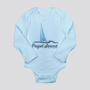 San Juan Islands. Long Sleeve Infant Bodysuit