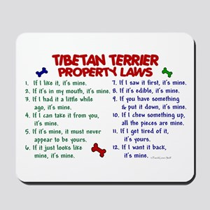 Tibetan Terrier Property Laws 2 Mousepad