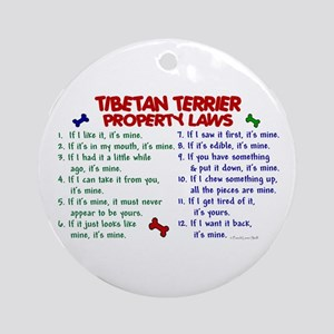 Tibetan Terrier Property Laws 2 Ornament (Round)