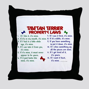 Tibetan Terrier Property Laws 2 Throw Pillow