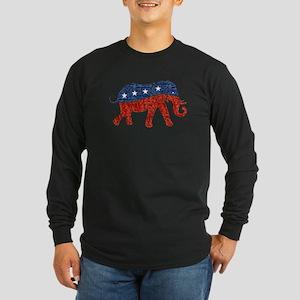 glitter republican elephant Long Sleeve T-Shirt
