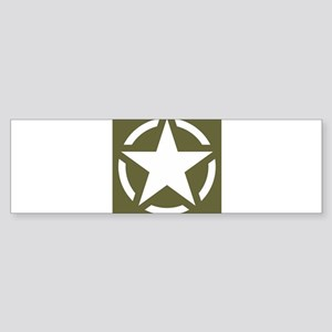 WW2 American star Bumper Sticker