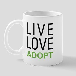 Live Love Adopt Mug