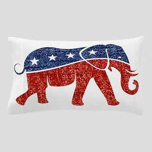 glitter republican elephant Pillow Case
