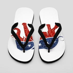 glitter republican elephant Flip Flops