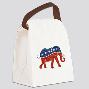 glitter republican elephant Canvas Lunch Bag