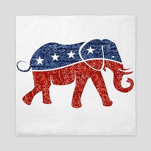 glitter republican elephant Queen Duvet