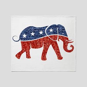 glitter republican elephant Throw Blanket