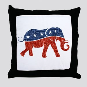 glitter republican elephant Throw Pillow
