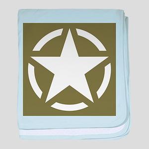 WW2 American star baby blanket