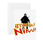 Ninja tshirts Greeting Cards (Pk of 20)