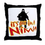Ninja tshirts Throw Pillow