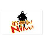 Ninja tshirts Rectangle Sticker