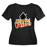 Ninja tshirts Women's Plus Size Scoop Neck Dark T-