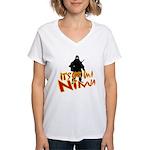 Ninja tshirts Women's V-Neck T-Shirt