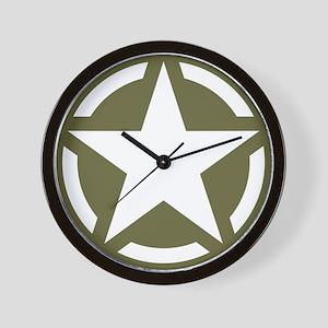 WW2 American star Wall Clock