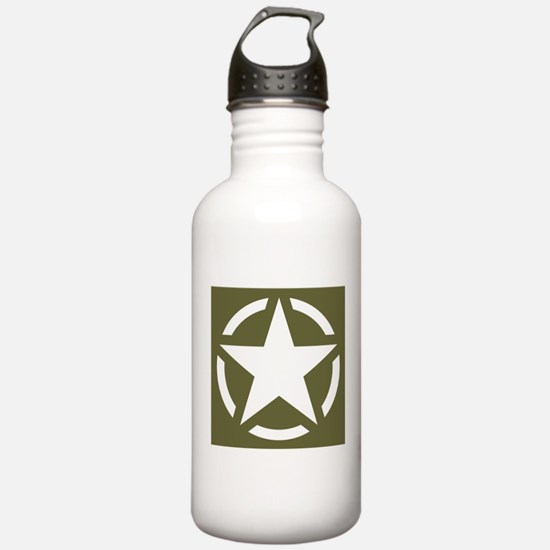 WW2 American star Water Bottle