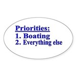 Boater's Priorities Oval Sticker