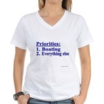 Boater's Priorities Women's V-Neck T-Shirt