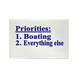 Boater's Priorities Rectangle Magnet (10 pack)