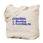 Boater's Priorities Tote Bag