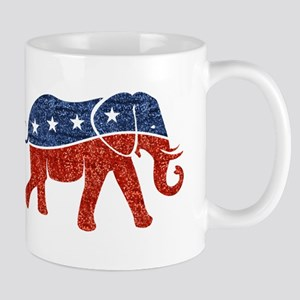 glitter republican elephant Mugs