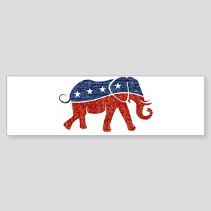 glitter republican elephant Bumper Sticker