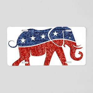 glitter republican elephant Aluminum License Plate