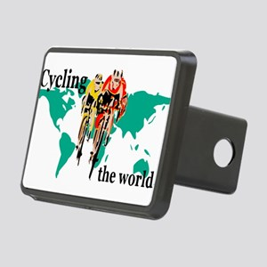 Cycling the World Rectangular Hitch Cover