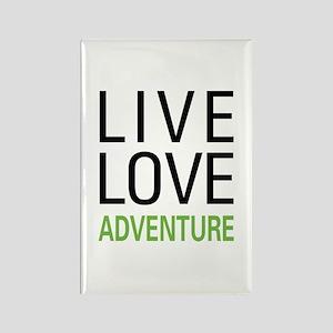 Live Love Adventure Rectangle Magnet