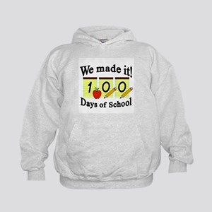 100th Day of School- We Made it! Kids Hoodie