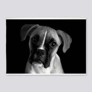 portrait-boxer-dog 5'x7'Area Rug