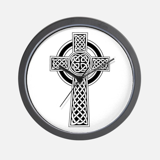 Celtic Knot Cross Wall Clock