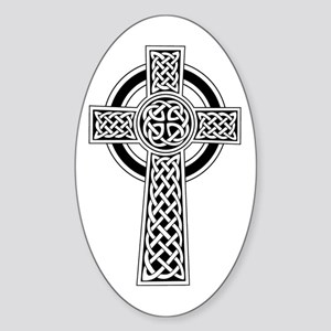 Celtic Knot Cross Oval Sticker