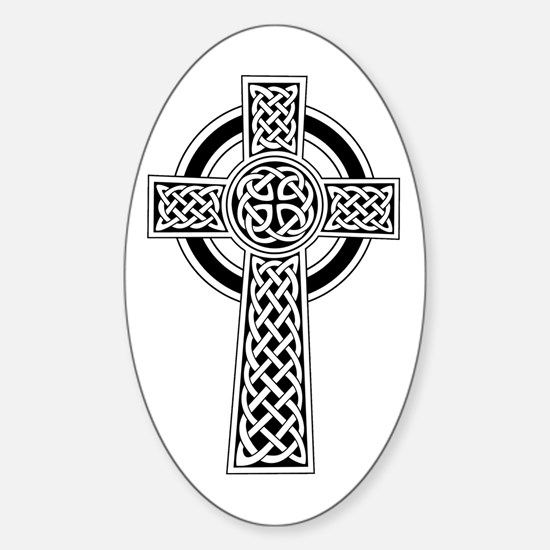 Celtic Knot Cross Oval Decal